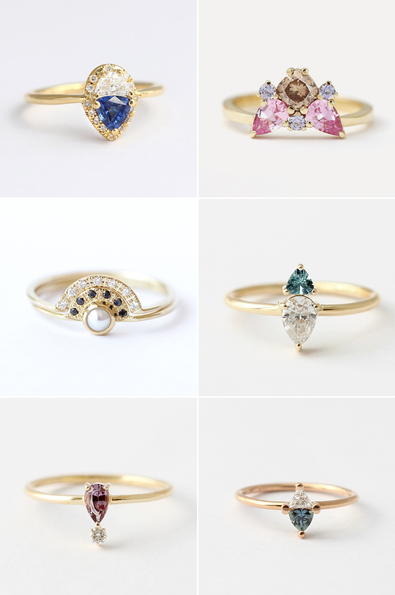 stylist engagement alternative rings fashion