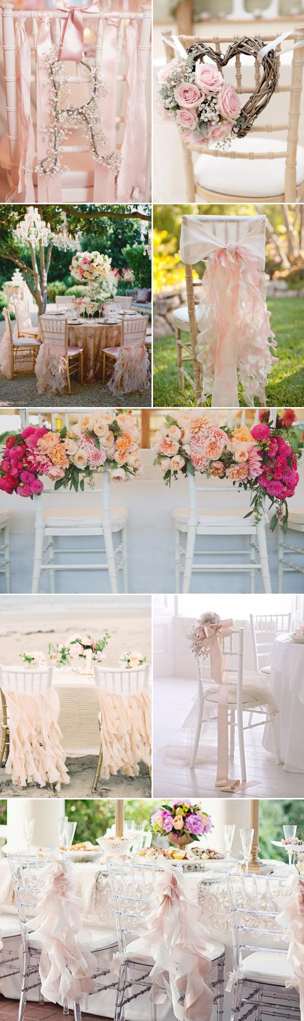 Chair Decor Ideas For Spring Weddings