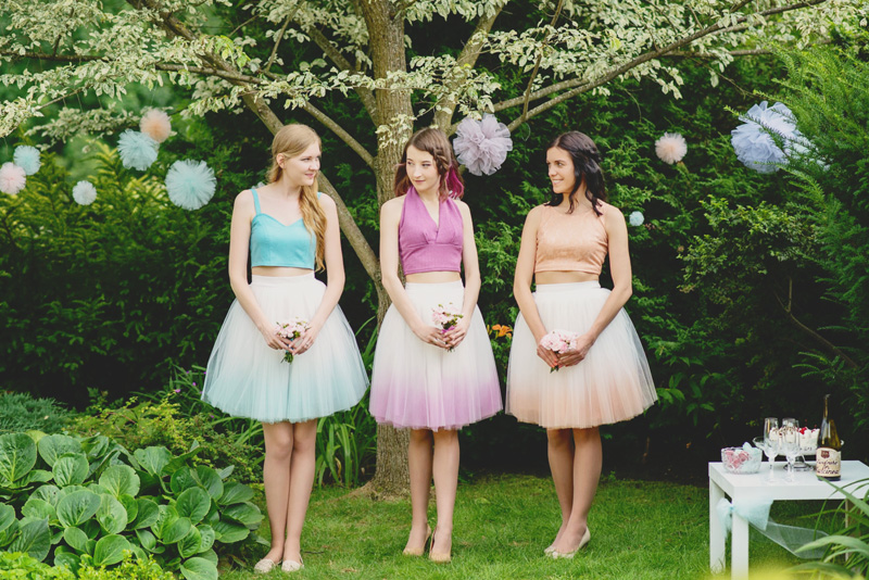 01-Blushing Ballerina Short Tulle Skirts