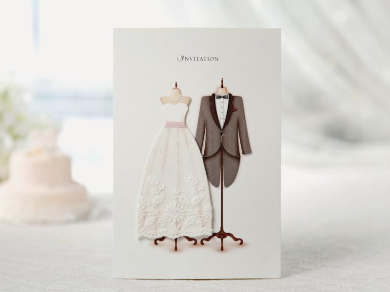 05-3D Fabric Lace Wedding Invitation