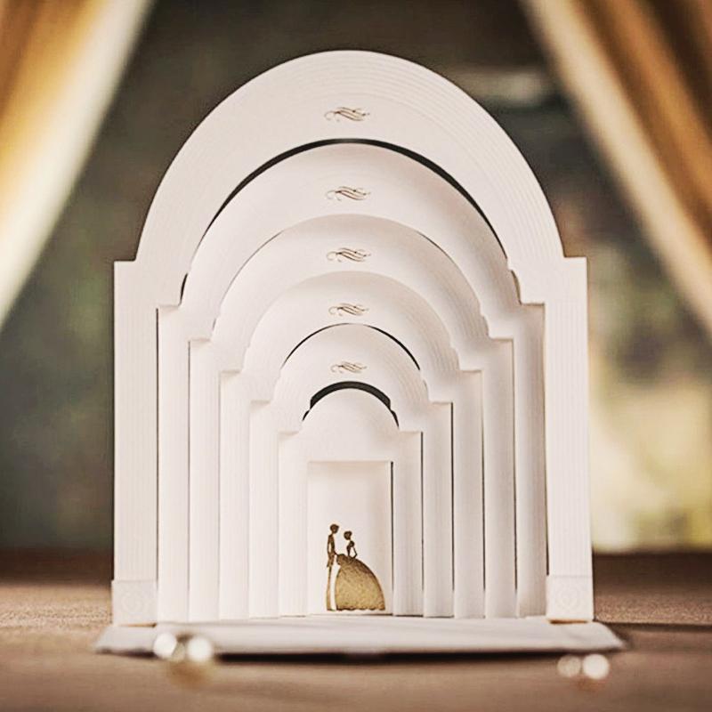 13-Wedding Chapel Pop Up Invitation