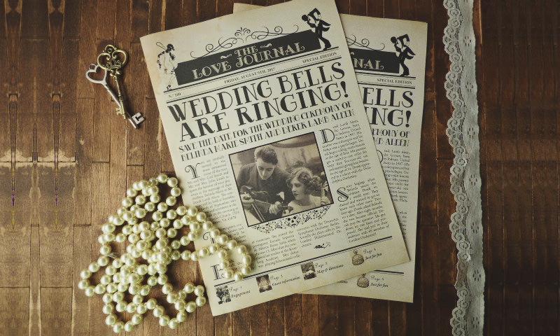 15-Vintage Newspaper Invitation