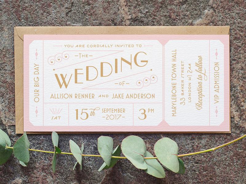 16-Art Deco-inspired Wedding Ticket