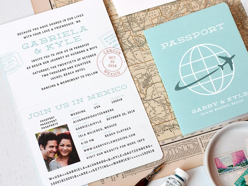 17-Passport Wedding Invitation