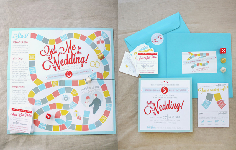 18-Playable Board Game Wedding Invitation1