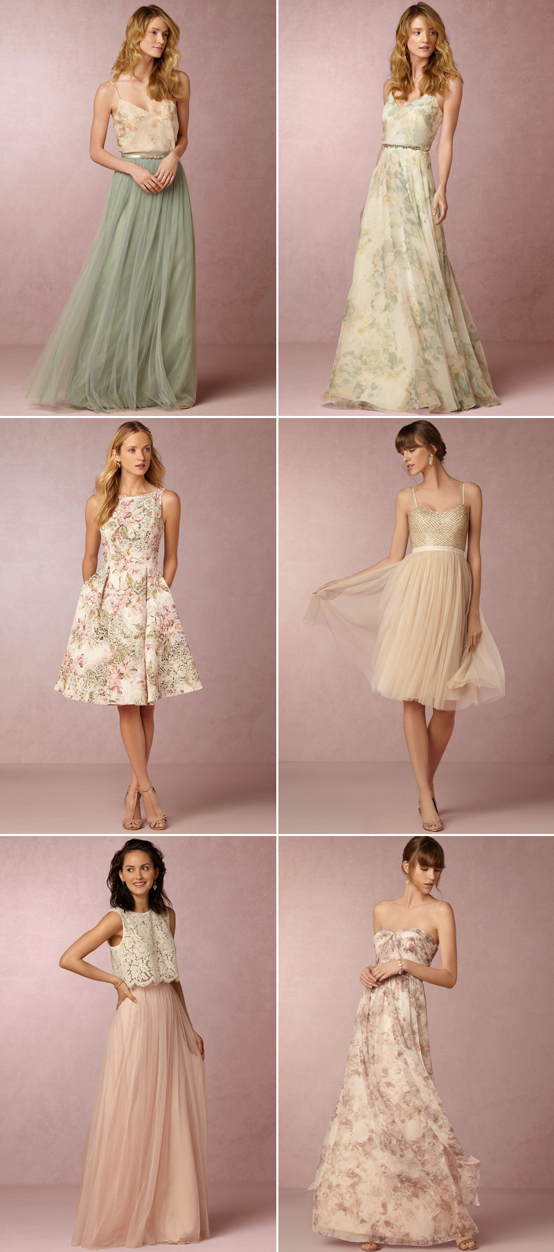 30 dreamy bridesmaid dresses for your romantic wedding praise bhldn ombrellifo Image collections