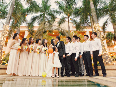 Yellow + Orange Summer Wedding from Chris Hui