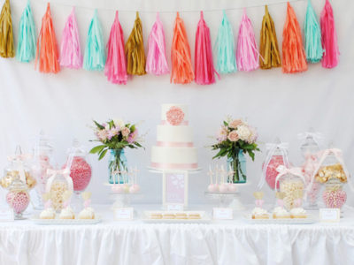 15 Adorable Pastel Dessert Table Designs