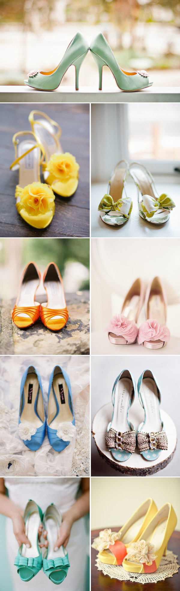 summer wedding shoes colorful