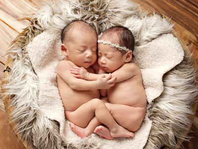 Adorable Newborn Twins Session from Eden Bao Photography