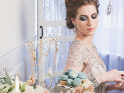 Blue & Gold Vintage Glamour Styled Shoot (from Butter Studios)