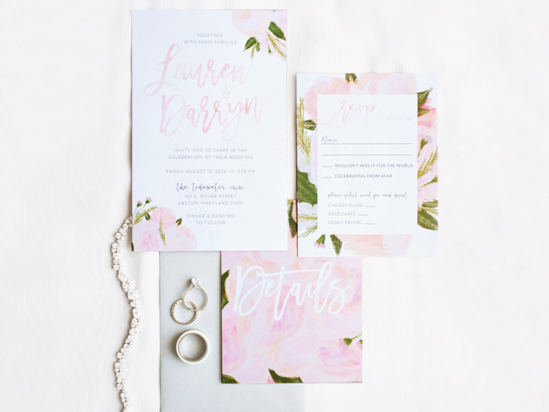 08-Blush Floral Wedding Invitations