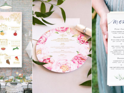 30 Creative Wedding Menu Ideas For Every Type of Wedding