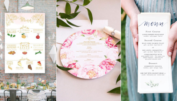 30 Creative Wedding Menu Ideas For Every Type of Wedding