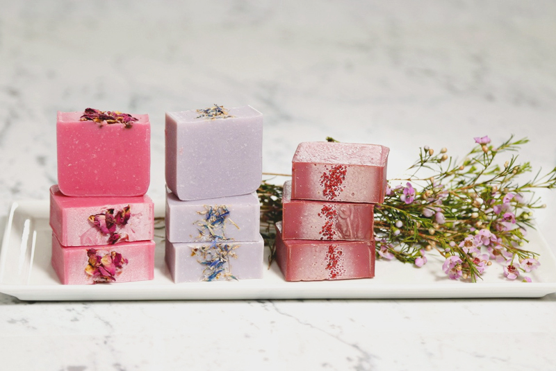 19-Floral Soap Favors