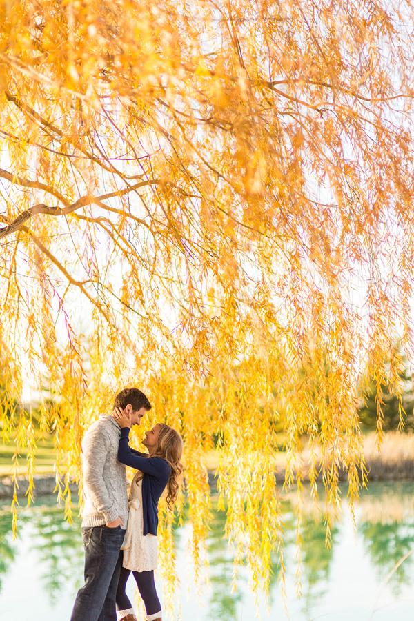 20 Romantic Fall Engagement Photo Ideas - Praise Wedding