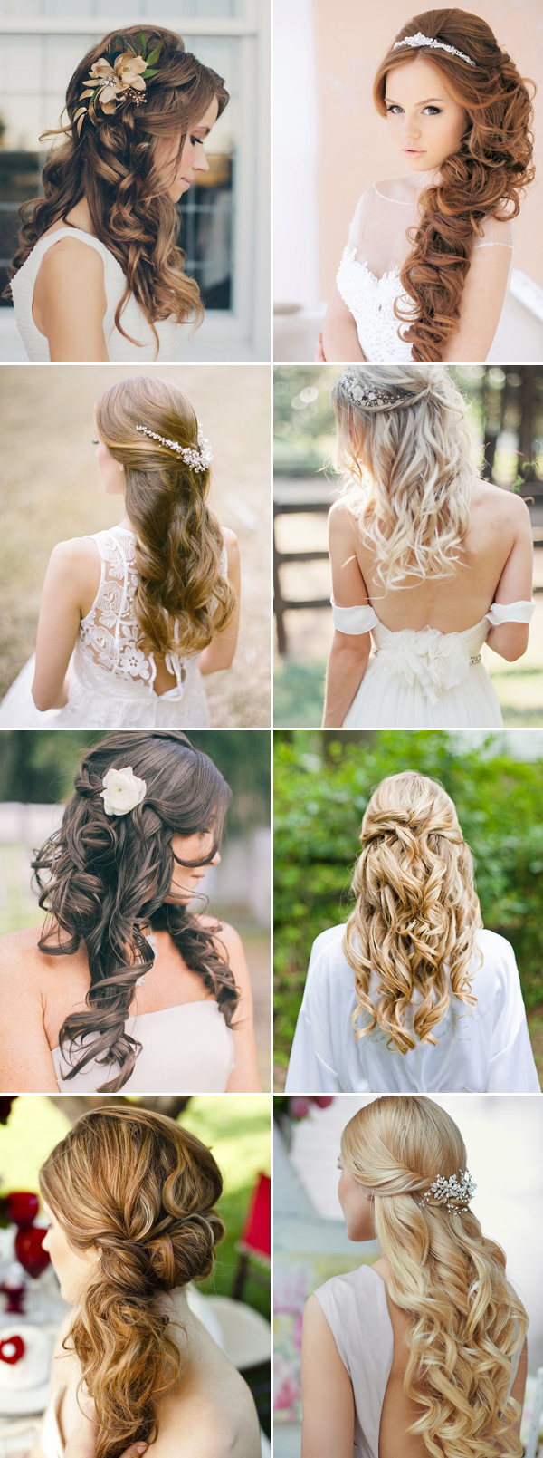 Fine 16 Gorgeous Half Up Half Down Hairstyles For Brides Praise Wedding Short Hairstyles For Black Women Fulllsitofus