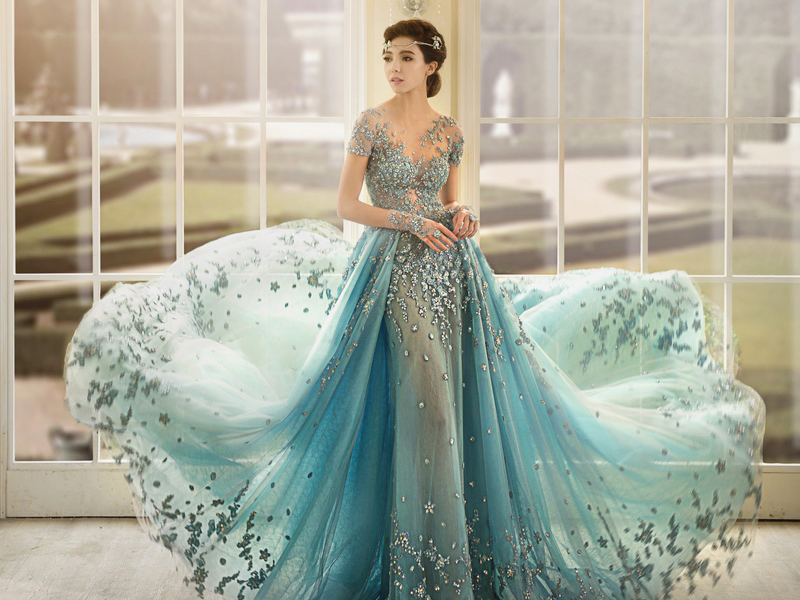 36 breathtaking ice queen inspired wedding dresses for for Fairytale inspired wedding dresses