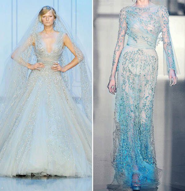 25 breathtaking ice queen themed frozen inspired wedding for Designer disney wedding dresses