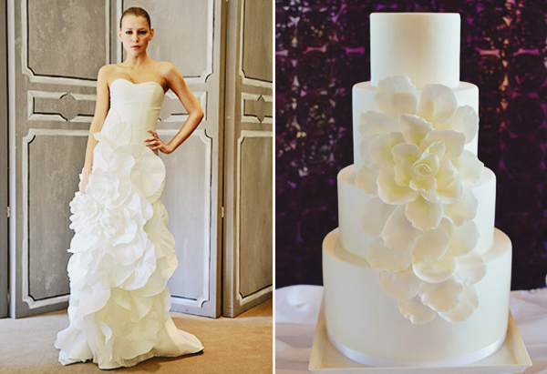 08-Carolina Herrera dress inspired cake by Honey Crumb Cake Studio