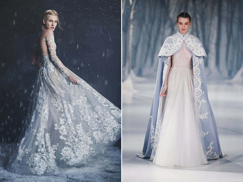 36 Breathtaking Ice Queen Inspired Wedding Dresses For