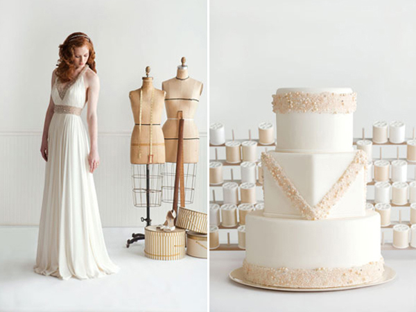 14-Reem Acra dress and cake by I Dream of Jeanne Cakes