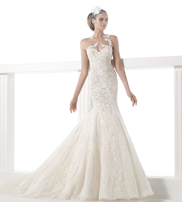 18-Pronovias 2015 Carezza Gown - Lace and guipure mermaid wedding dress