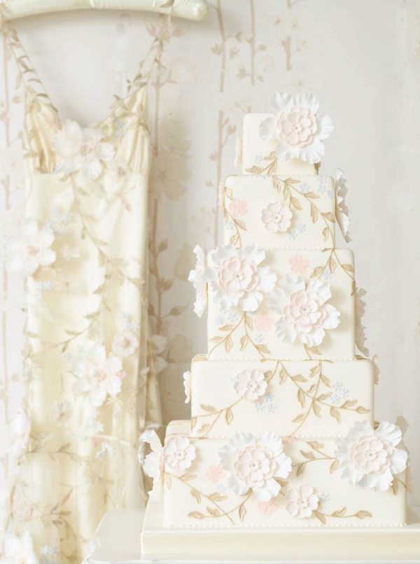 20-Claire Pettibone gown inspired cake by The Cake Parlour