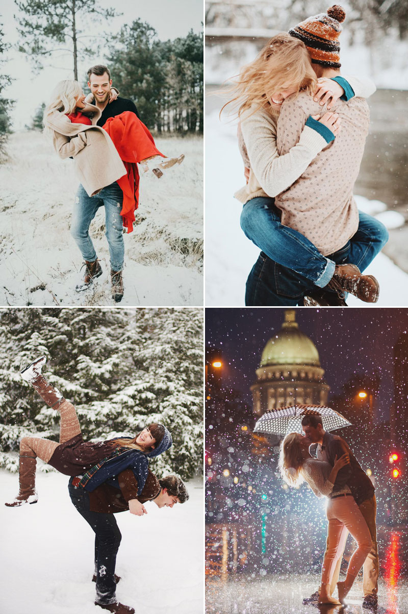 20 Cute Christmas Photo Ideas for Couples to Show Love! - Praise Wedding
