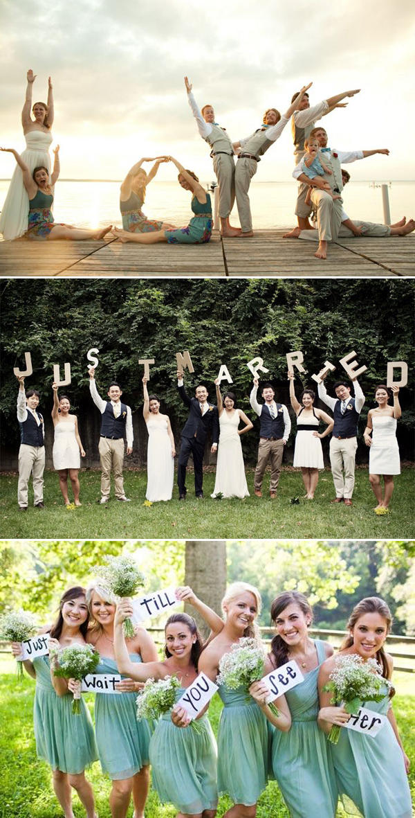 Creative Wedding Photo Ideas And Poses – The Entire Wedding Party