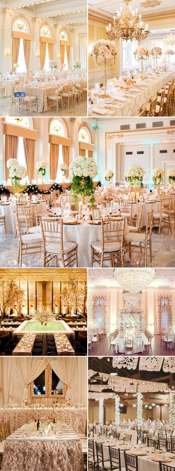 30 stunning luxury indoor reception decoration ideas you dont want indoor reception04 gold junglespirit Choice Image