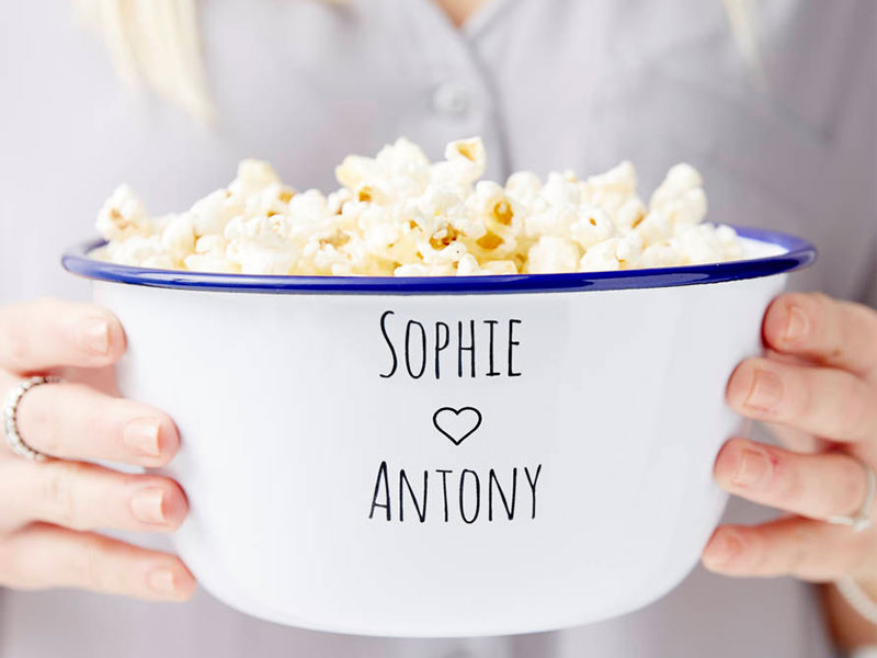 02-Couples-Enamel-Personalised-Popcorn-Bowl