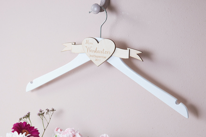 05-Personalised Engraved Wedding Dress Hanger