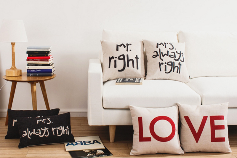 06-Mr Right and Mrs Always Right Honeymoon Pillows