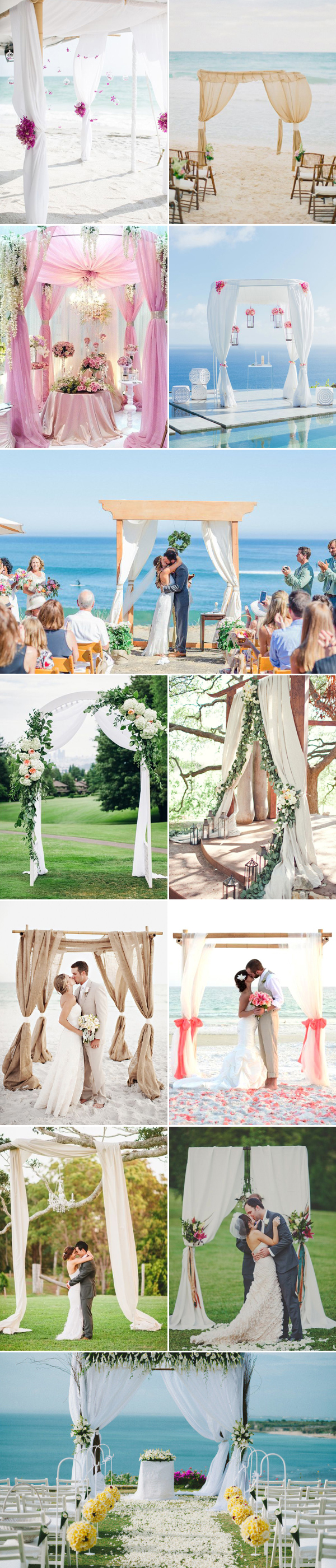 50 Beautiful Wedding Arch Decoration Ideas - Praise Wedding