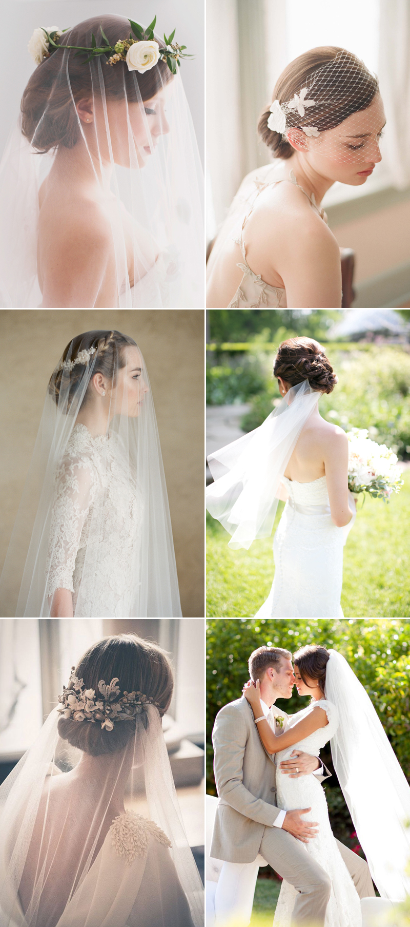 5 Chic Bridal Hairstyles That Look Good With Veils