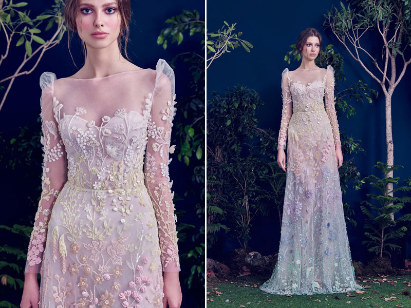 32 whimsical and ethereal wedding dresses for fairy tale brides dress ch wedding 15 hamda al fahim junglespirit Image collections
