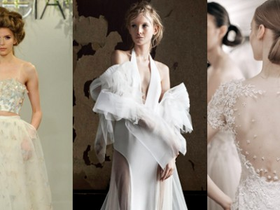 12 Most Beautiful Wedding Dress Trends from the Spring/Summer 2016 Bridal Runways!