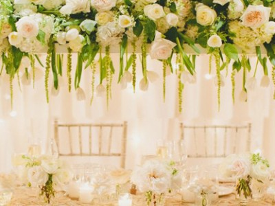 Beauty from Above – 27  Romantic Hanging Centerpiece Ideas
