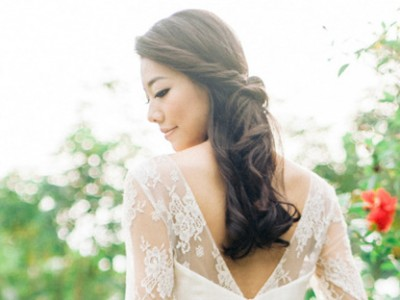 28 Gorgeous Hairstyles for Brides with Dark Hair