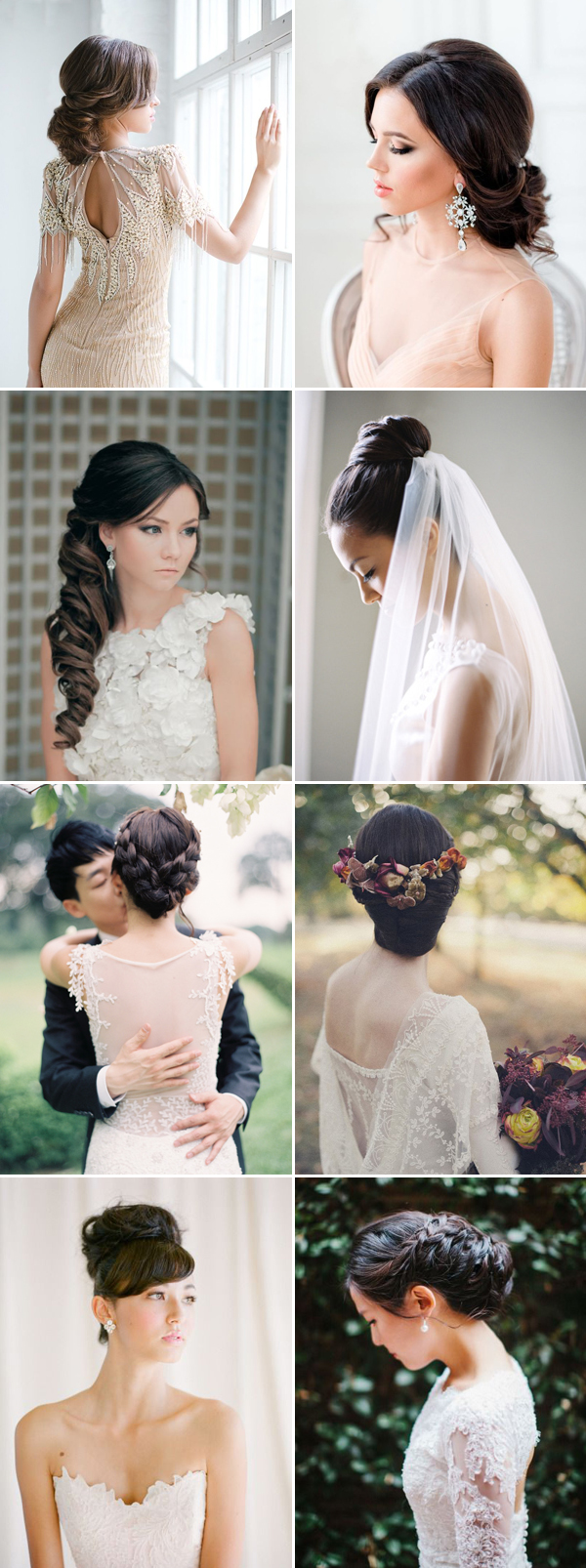 28 gorgeous hairstyles for brides with dark hair - praise