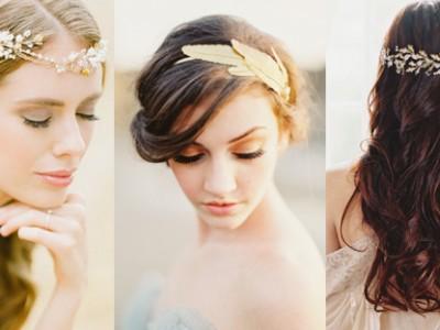 25 Pretty Ways to Wear Your Bridal Headband!
