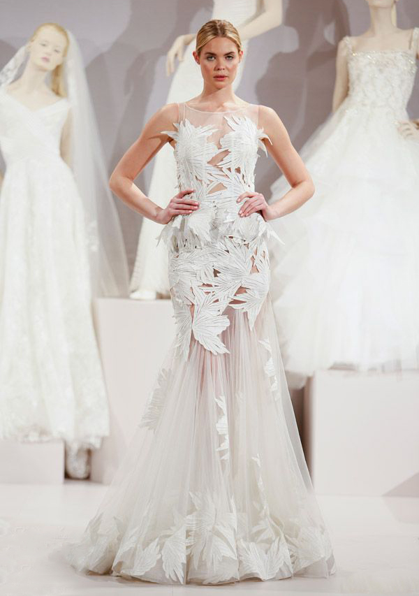15 most beautiful wedding dresses from the spring 2016 for Top 10 most beautiful wedding dresses