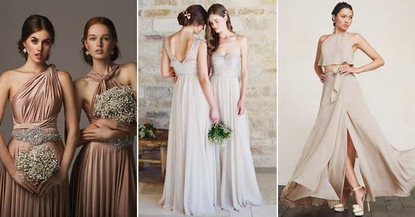 Wedding Dress Color Controversy : Jaw droppingly elegant bridesmaid dresses to obsess praise wedding