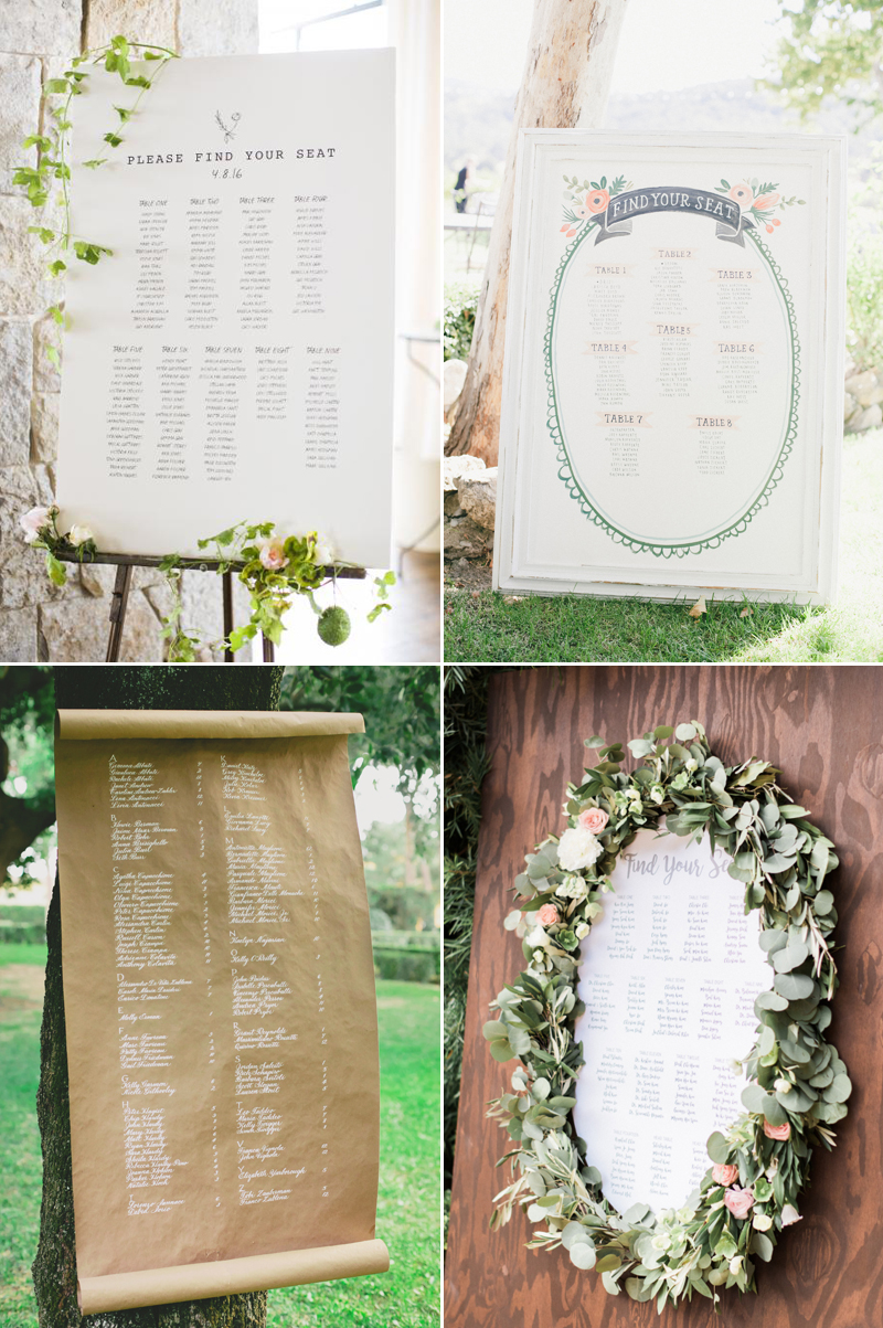 32 creative reception seating chart ideas your guests will love the classics junglespirit Gallery