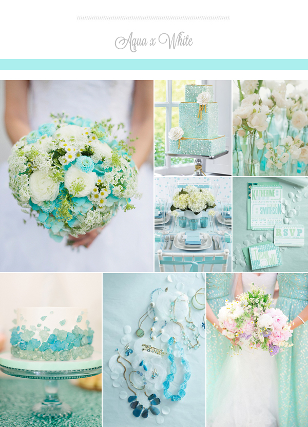 The prettiest wedding colors for summer 2015 praise wedding summercolors01 aqua junglespirit Gallery