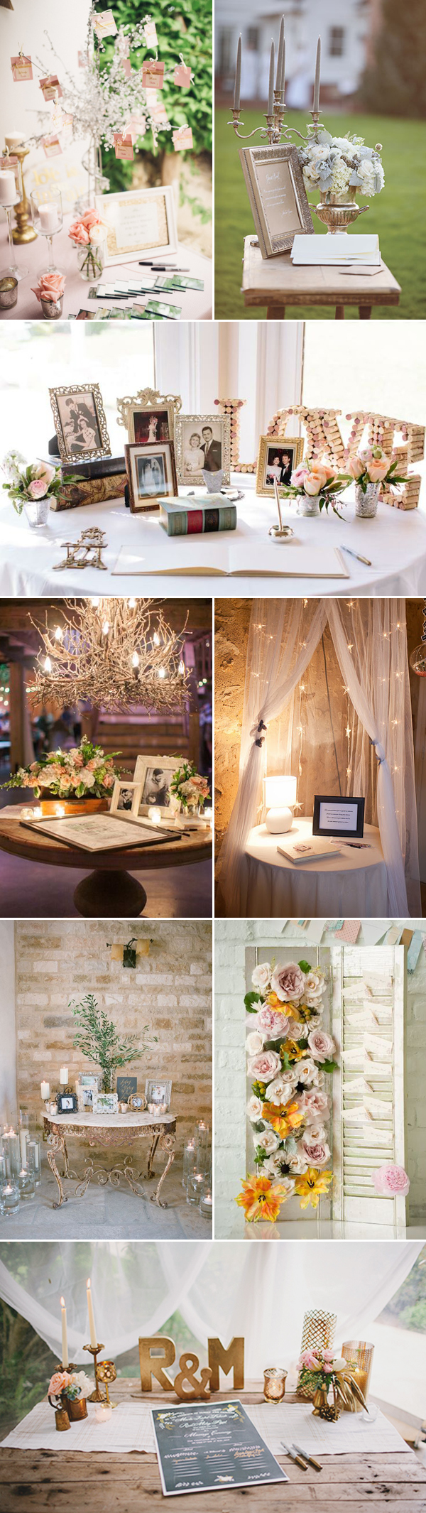 35 Creatively Beautiful Guestbook and Sign-in Table Décor Ideas ...