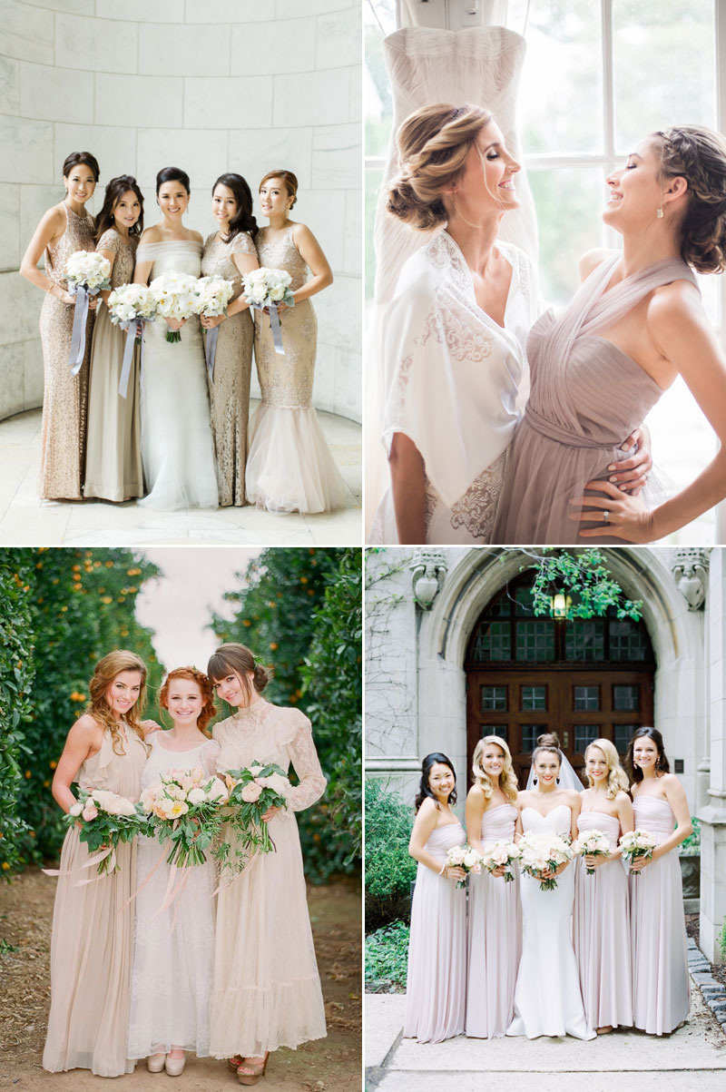 Seriously stylish fashion forward bridesmaid dresses your girls ethereal neutral colors ombrellifo Image collections