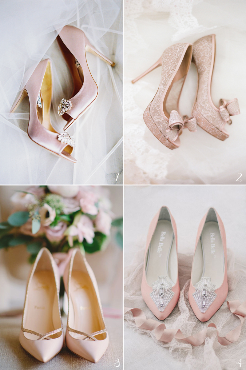 234dcb11c124 12 Dreamy Pastel Pink Wedding Shoes For Romantic Brides! - Praise ...