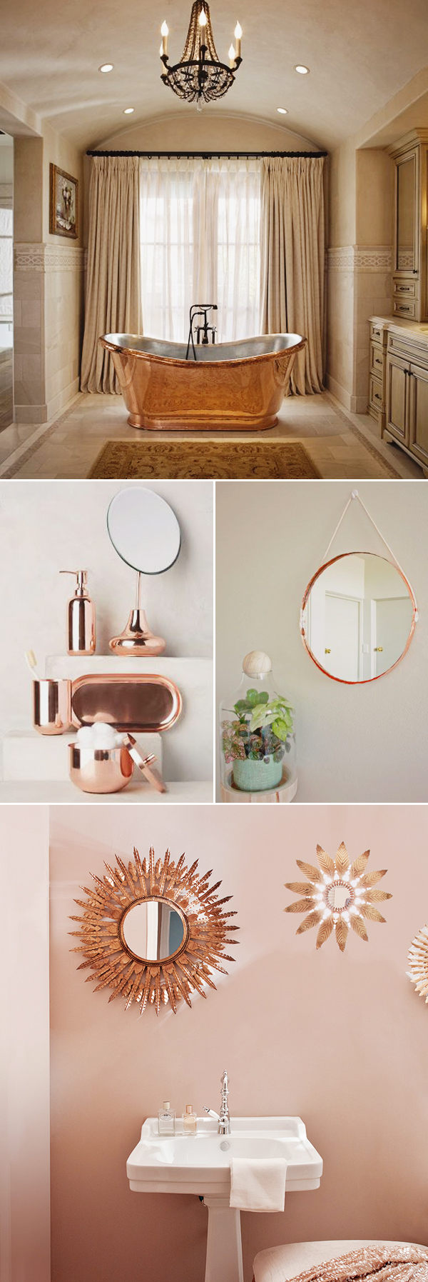 Rose Gold Bathroom Ideas Credainatconcom - Metallic gold bathroom accessories